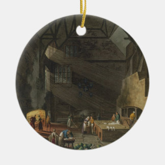 Interior of the Kitchen, Trinity Cambridg Christmas Ornament