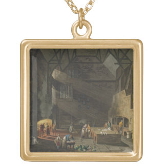 Interior of the Kitchen, Trinity Cambridg Gold Plated Necklace