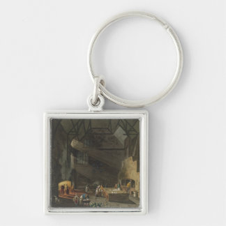 Interior of the Kitchen, Trinity Cambridg Key Ring