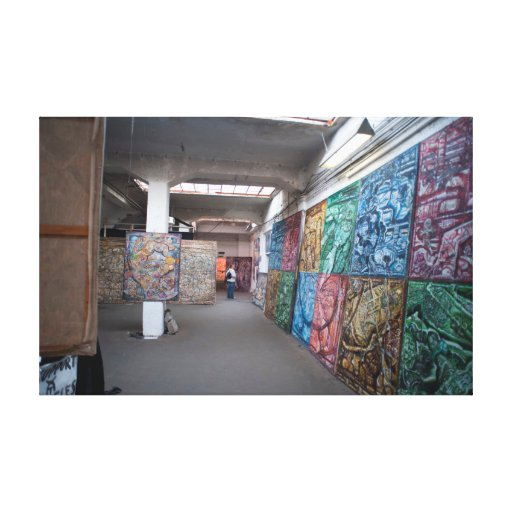 Interior of the Kunsthaus Tacheles Canvas Print