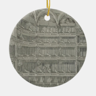 Interior of the Late Theatre Royal, Drury Lane, in Christmas Ornament
