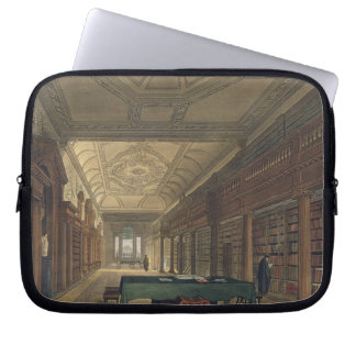 Interior of the Library of Christ Church, illustra Laptop Sleeves