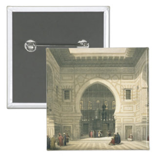 Interior of the Mosque of Sultan Hasan, Cairo, fro Pinback Button
