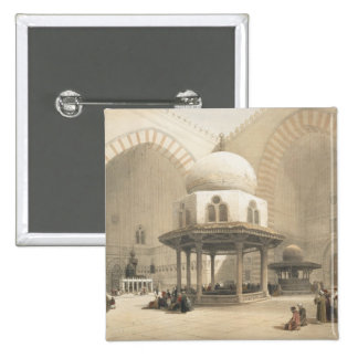 Interior of the Mosque of the Sultan El Ghoree, Ca Pinback Buttons