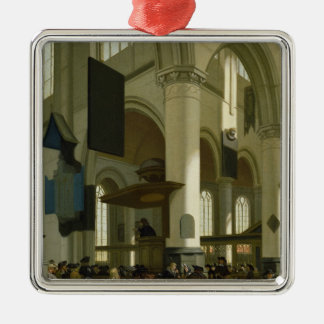 Interior of the Oude Kerk Christmas Ornament