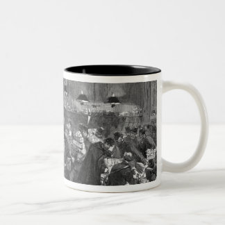 Interior of the Paris post office Two-Tone Coffee Mug