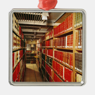 Interior of the printed material store christmas ornament
