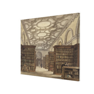 Interior of the Public Library, Cambridge, from 'T Canvas Print