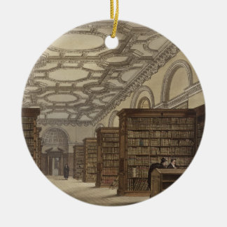 Interior of the Public Library, Cambridge, from 'T Christmas Ornament