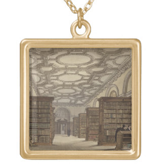 Interior of the Public Library, Cambridge, from 'T Gold Plated Necklace