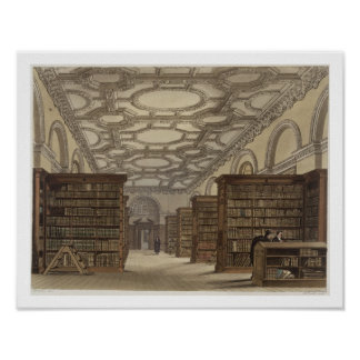Interior of the Public Library, Cambridge, from 'T Poster