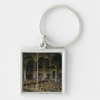 Interior of the 'Salle des Imprimes', 1868 Silver-Colored Square Key Ring