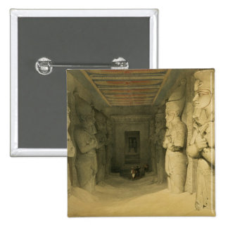 """Interior of the Temple of Abu Simbel, from """"Egypt Pinback Buttons"""
