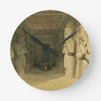 """Interior of the Temple of Abu Simbel, from """"Egypt Round Clock"""