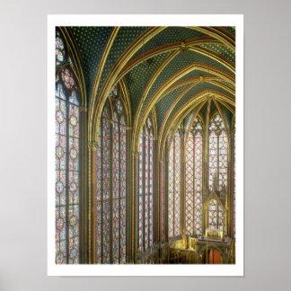 Interior of the upper chapel looking east, begun 1 posters