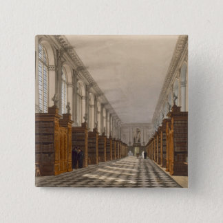 Interior of Trinity College Library, Cambridge, fr 15 Cm Square Badge