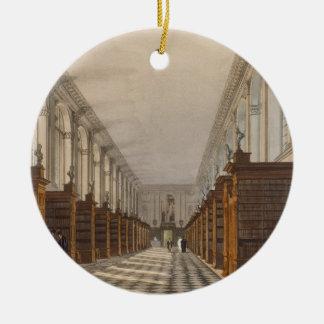 Interior of Trinity College Library, Cambridge, fr Round Ceramic Decoration