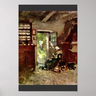 Interior Of Vitre By Grigorescu Nicolae Poster