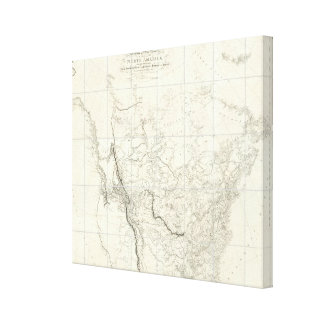 Interior Parts of North America Canvas Print