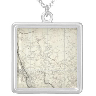 Interior Parts of North America Silver Plated Necklace