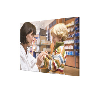interior shots of a pharmacy canvas print