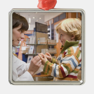 interior shots of a pharmacy christmas ornament