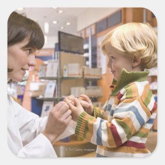 interior shots of a pharmacy sticker