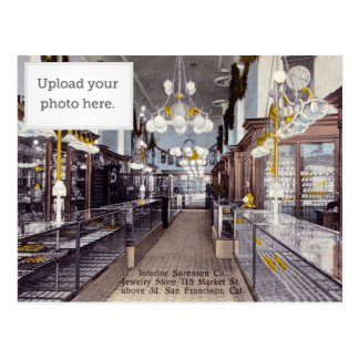 Interior Sorensen Co. Jewelry Store Postcard