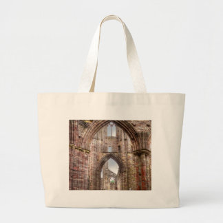 Interior View of Ancient Tintern Abbey Wales, UK Large Tote Bag
