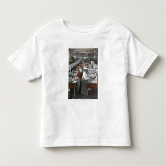 Interior View of Salmon Cannery Workers Toddler T-Shirt
