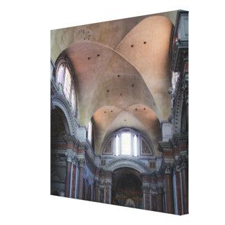 Interior view of Santa Maria degli Angeli in Canvas Print