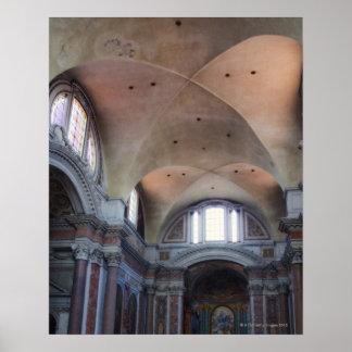 Interior view of Santa Maria degli Angeli in Poster