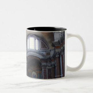 Interior view of Santa Maria degli Angeli in Two-Tone Coffee Mug