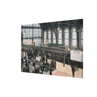 Interior View of Sullivan Square Station Canvas Print