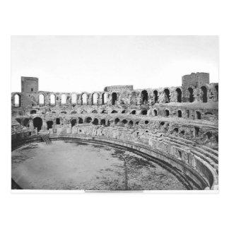 Interior view of the amphitheatre postcard