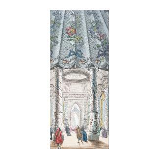 Interior View of the elegant music room Canvas Print