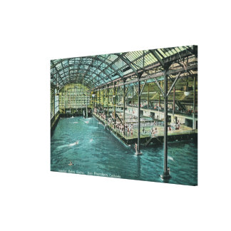 Interior View of the Indoor Sutro Baths Canvas Print