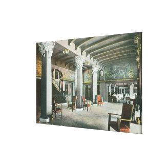 Interior View of the Mermaid Inn Canvas Print