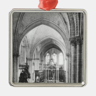 Interior view of the nave and the choir christmas ornament