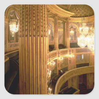 Interior view of the Opera House looking towards t Square Sticker