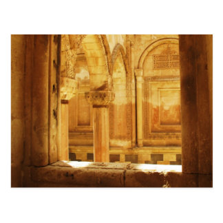 Interior view of the palace İshak Paşa Sarayı Postcard