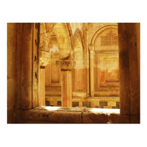 Interior view of the palace İshak Paşa Sarayı Postcards