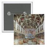 Interior view of the Sistine Chapel 15 Cm Square Badge