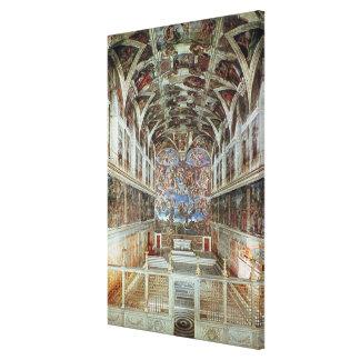 Interior view of the Sistine Chapel Canvas Print
