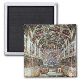 Interior view of the Sistine Chapel Magnet