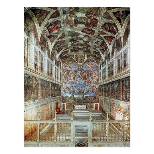 Interior view of the Sistine Chapel Postcard