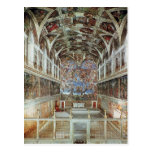 Interior view of the Sistine Chapel Postcards