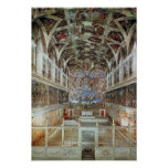 Interior view of the Sistine Chapel Posters