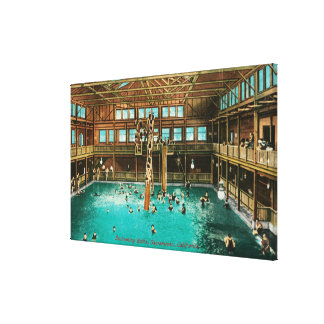 Interior View of the Swimming Baths Canvas Print