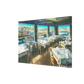 Interior View of the Vista del Mar Restaurant Canvas Print
